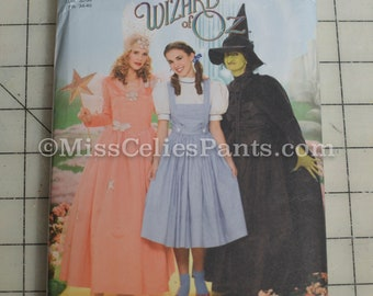 Wizard of Oz, Dorthy, Glinda, Wicked Witch sz 6,8,10,12 Simplicity 4136 Costume Sewing Pattern