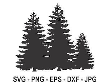 Pine Tree Svg Etsy