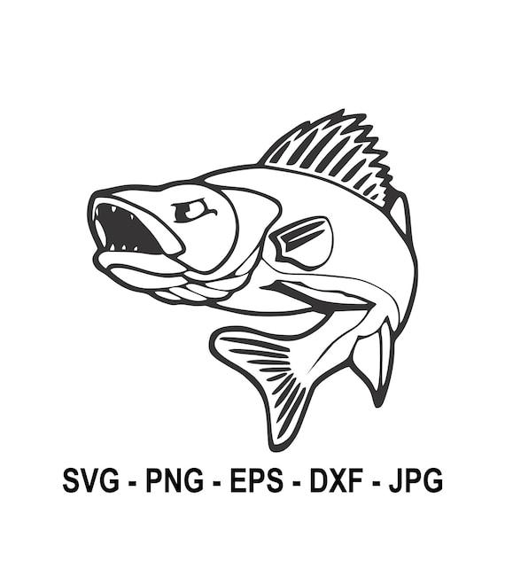 Download Walleye Fishwalleye Svginstant Downloadsvg Png Eps Dxf Etsy