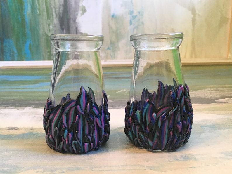 Purple Drip Design Vases
