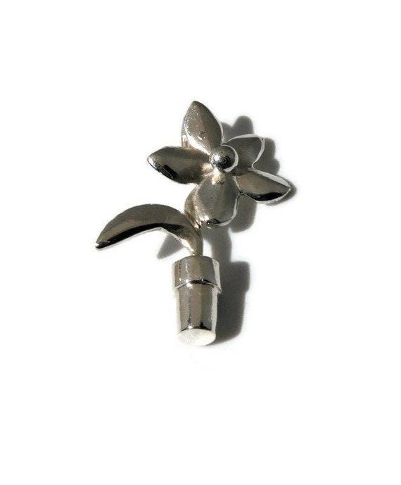 Argent Sterling 925 poétique Bloom avec émail Charme Fleur Rose Flottant