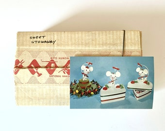 Vintage 1970 Sweet Stowaway - Fad of the Month Club - Subscription Box - Original Box made by the National Handcraft Society