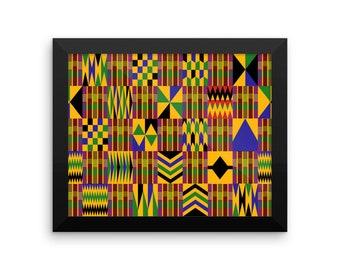 Kente Framed poster 01
