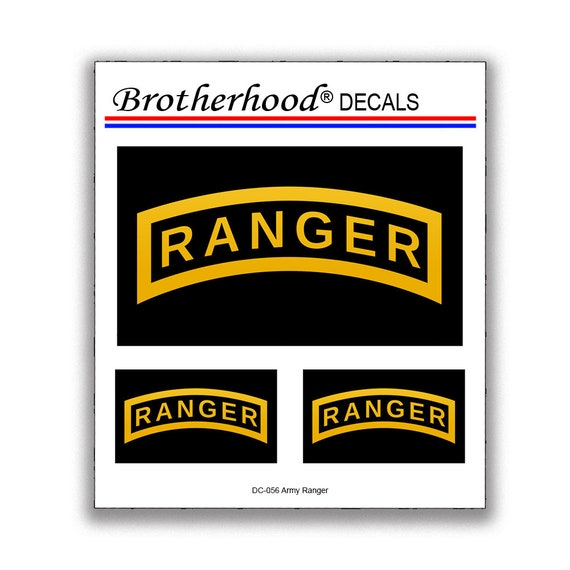 USA AMERICAN FLAG//RANGER Vinyl Window Decal Sticker U.S ARMY RANGER