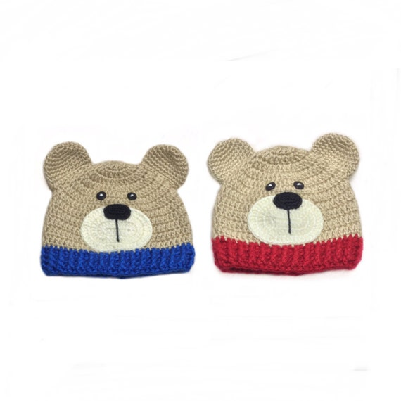 Crochet bear hat Baby outfit Teddy bear Newborn photo props  ddcde0d35a7