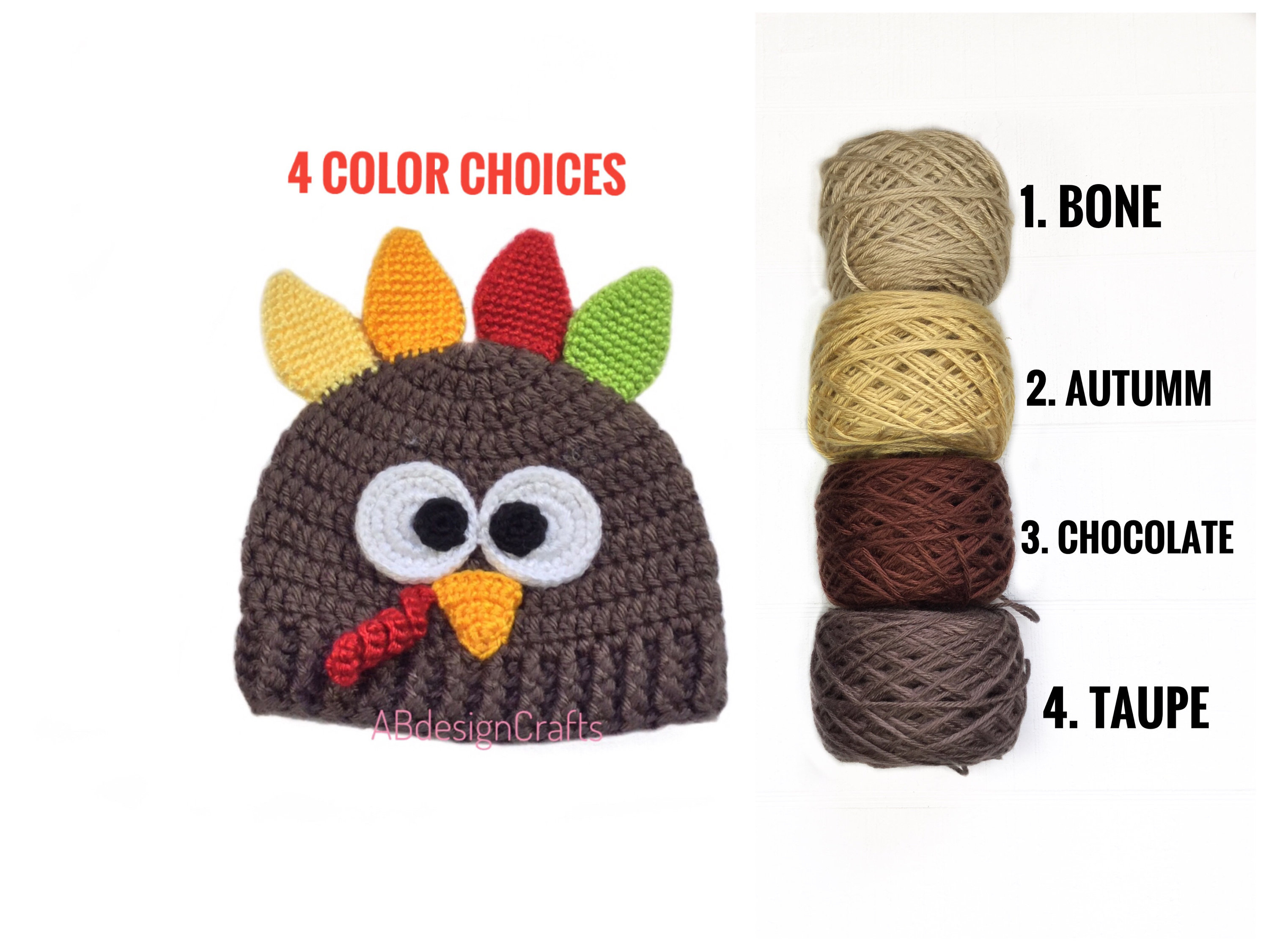 Baby boy girl Turkey hat Crochet baby outfit Thanksgiving hat  b6b5049c36a