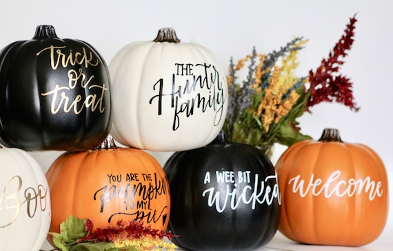 Hand Lettered Decorative Pumpkins