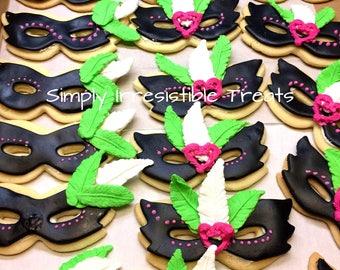 Masquerade Themed Sugar Cookies