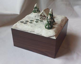Christmas Scene Jewelry Box