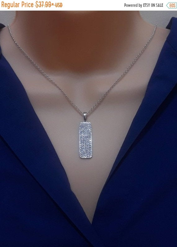 free usa shipping silver dog tag pendant necklace sterling etsy