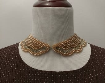 Vintage 1960s peter pan pearl collar necklace