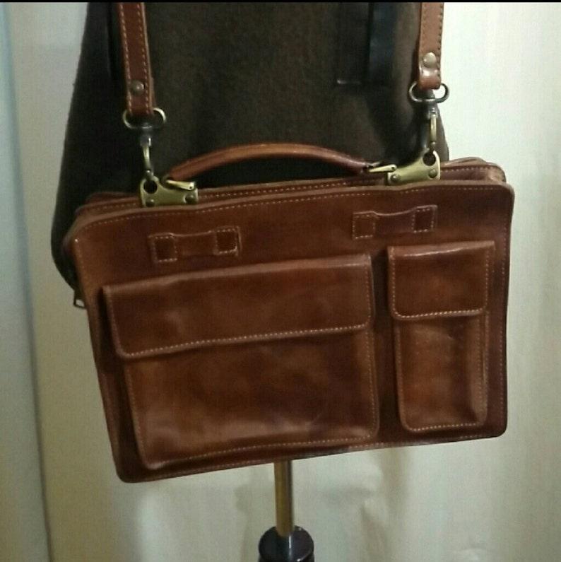 65333c2cafd25 Vintage Unisex I Medici Leder Braun