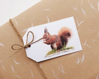 French Style Squirrel Gift or Scrapbook Tags or Magnet #77