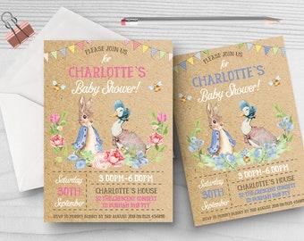 10 personalised baby shower invites peter rabbit beatrix digital copy personalised baby shower invites peter rabbit beatrix potter filmwisefo