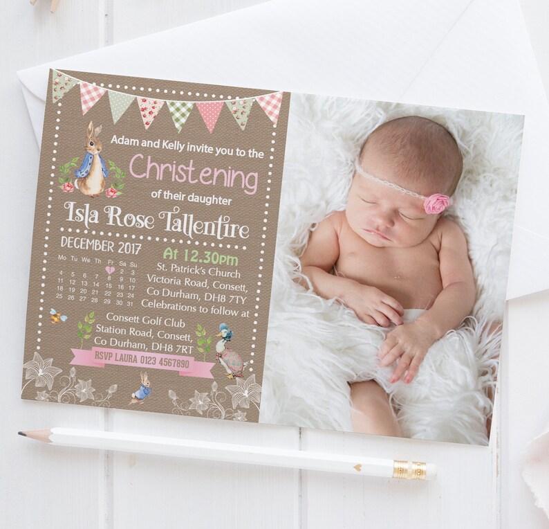 30 Personalised Naming Day Christening Invitations girl boy invites