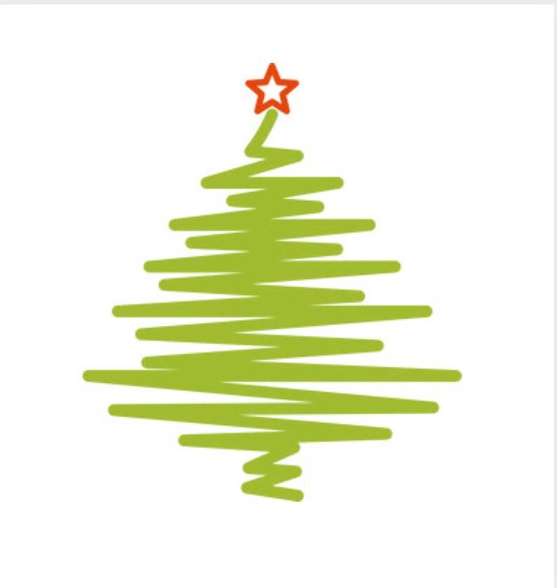 Christmas Tree Sketch Etsy