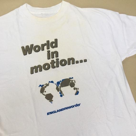 1990 NEW ORDER World In Motion Vintage T-shirt