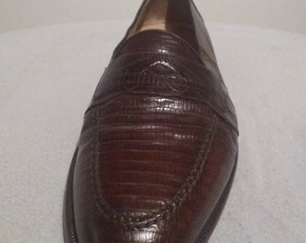 b0b0c7686fc Caporicci Designed Genuine Crocodile Mens Italian Loafers