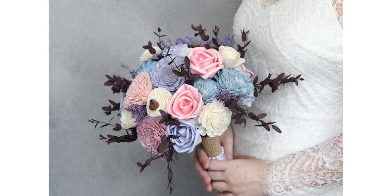 Eco-Friendly Sola Wood Flower Bouquet Bridal Bouquets Wedding Bouquets Wood Flowers Silk Flowers Wanderlust