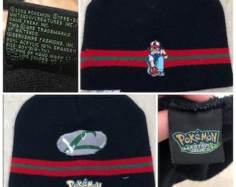 d418e799727 90s Vintage Ash Ketchum Pokemon Beanie Pokemon Hat Vintage Pokemon Gift