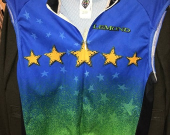 6adfc49d5 80s Vintage JERSEY CYCLING Made In Usa Lemond Multi Colored Uniform Biking  Mens vintage clothing 90s Clothing retro clothing 80s sleeveless