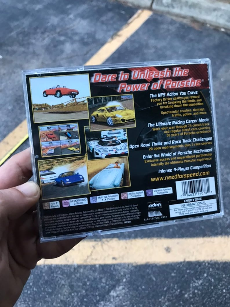 Gamer Gift 90s Vintage collectible 90s gifts 90s gift 90s show gift Cd PS1 90s Vintage Need For Speed Porsche Unleashed Game PLAYSTATION 1