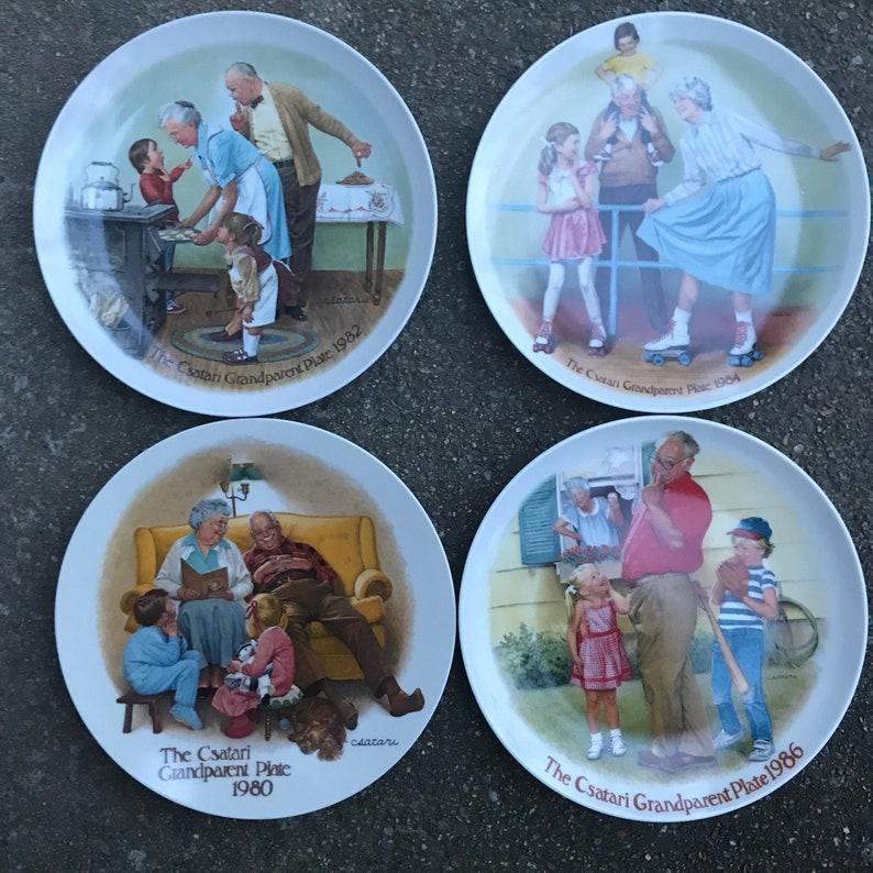 Art Vintage Vintage 1986 Vintage Collectable Grandparent Plate Art Gift Gift 80s Vintage 80s Collectible Plate Grandparent Gift