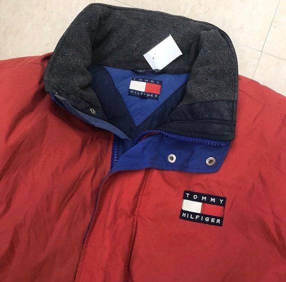 90s Tommy Hilfiger Puffer Coat Winter Jacket 90s C