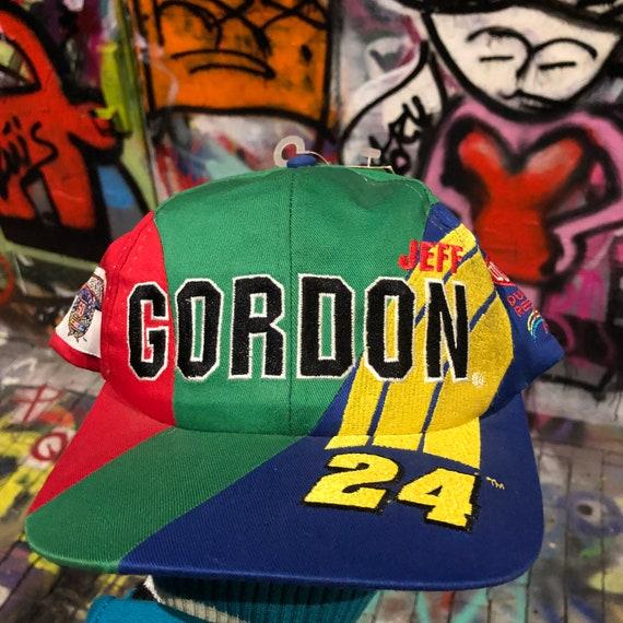 DS 90s Vintage JEFF GORDON Hat Vintage nascar Snap