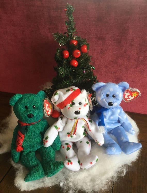 Ty Christmas Beanie Babies LOT of 3 Ty Beanie Baby Bears  e2c7db59b0b
