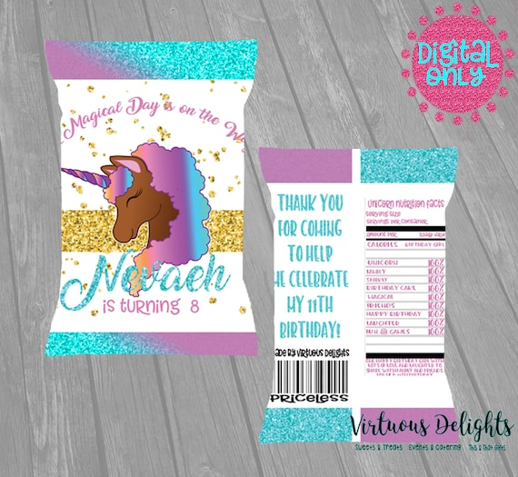 Chocolate Unicorn Party Favors for Kid Birthday Unicorn Party Favor Unicorn Party Favor Krispie Treat Party favors for kid birthday