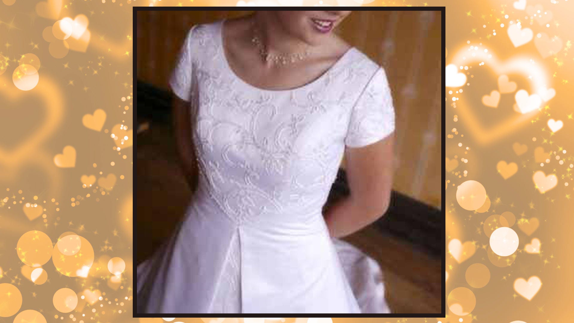 Price Reduced Modest White Wedding Dress Size 10 Lds Etsy