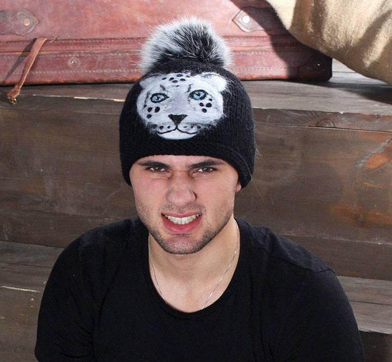 3658fb8c537fb Boy Ski Hats Men Snowboard Hat Real Fur Pom Pom Boy