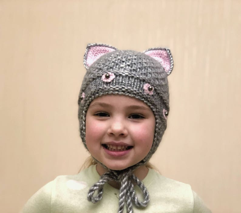 7bf3569c7f278 Toddler hat girl Baby girl hat winter Toddler knit hat Baby