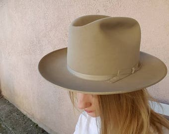Vintage Stetson Open Road with box size 7 *Free Shipping*