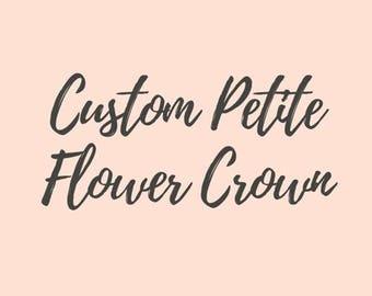 Custom Petite Floral Crown || Felt Flower Crown || Newborn Photo Shoot Headband || Baby Shower Gift
