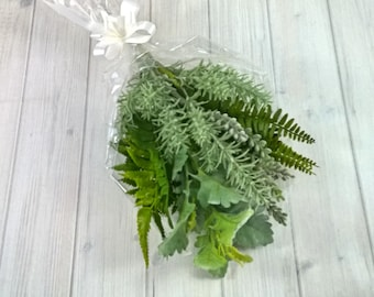 Mixed Foliage - Artificial Flowers - Bunch - Bouquet - Real Touch - Greenery