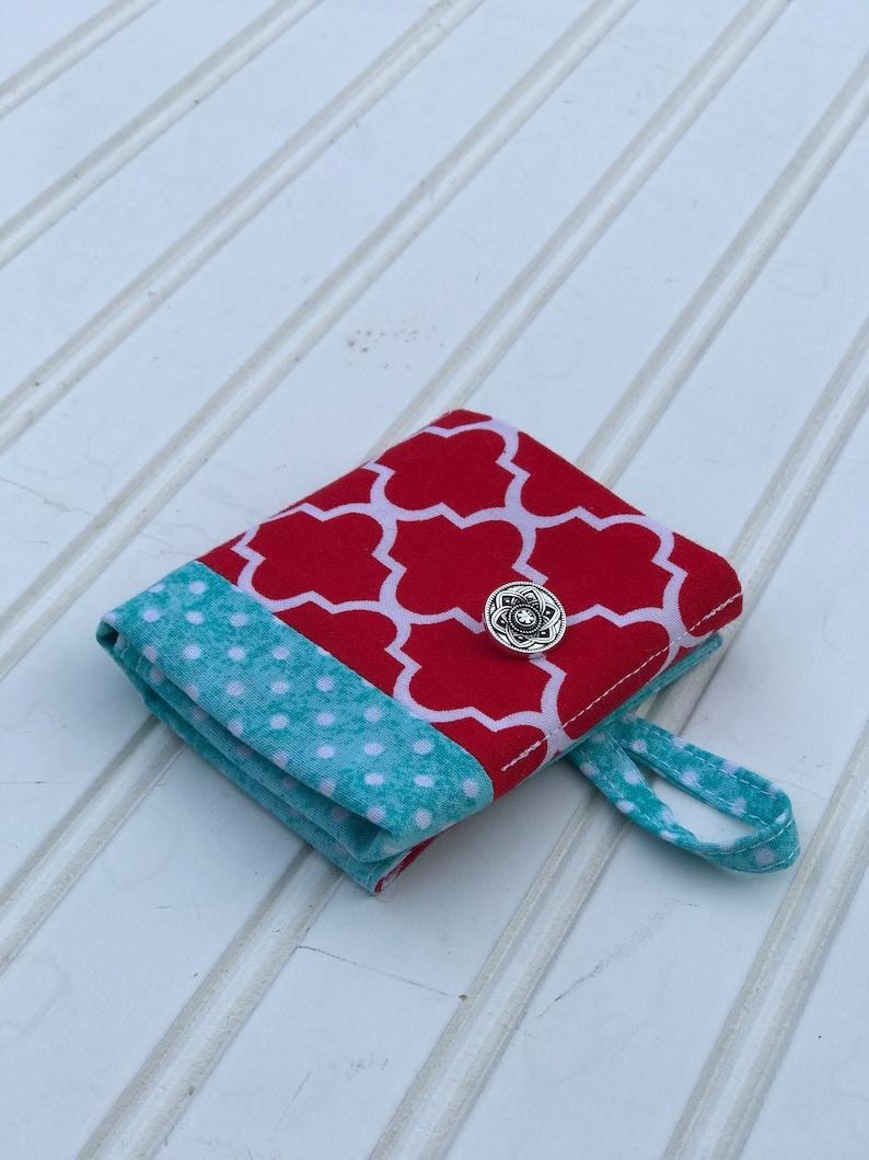 Modern Jewelry Bag Handmade Foldable Fabric Wallet Phone Accessory Travel Case| Snack Bag| Travel Kit Purse Organizer Tea Wallet