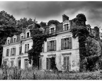 Castle print, urban decay photography, Urbex, abandonment, fine art photography, wall art, home decor, gift idea, decoration