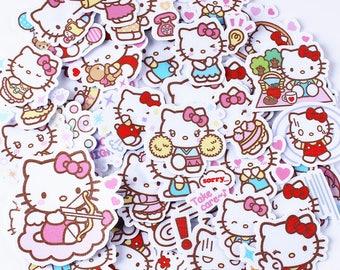 d8fb2c71b 40 pcs Creative Kawaii Hello Kitty Scrapbooking Stickers / Decorative  Sticker / DIY Craft Photo Album 40 pcs v2