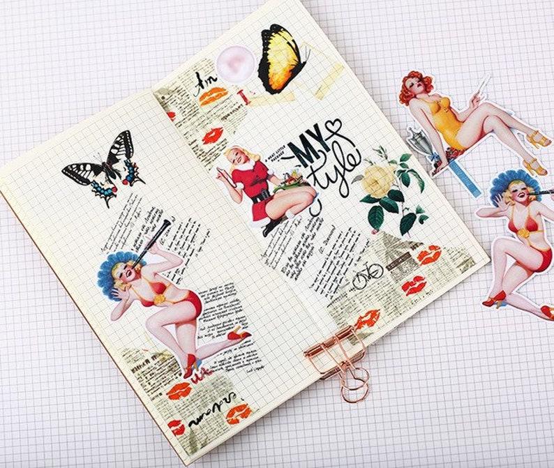40 pcs cute self-made retro mori girls Sticker Diary Stickers Scrapbooking Decoration Paper Stationery DIY Sticker School Supply