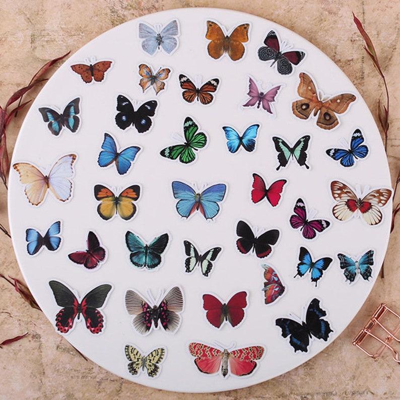 35pcs Creative cute self-made Beautiful butterfly scrapbooking stickers decorative sticker DIY craft photo albums Waterproof