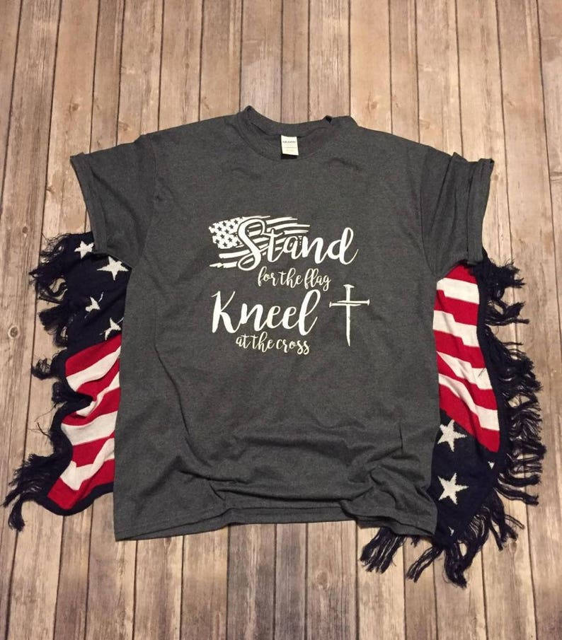 Stand for The Flag Kneel Before God Childrens Long Sleeve T-Shirt Boys Cotton Tee Tops