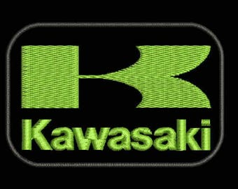 Kawasaki LOGO PATCH Machine Embroidery Design Instant Download