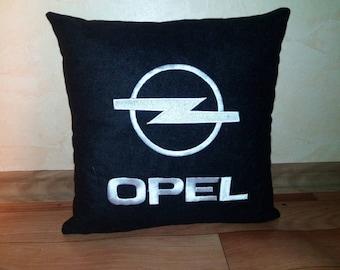 Opel logo pillow pillowcases. Embroidery pillow. Car pillow