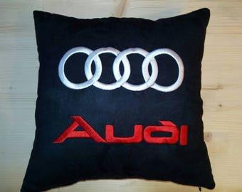 Audi logo pillow pillowcases. Embroidery pillow. Car pillow