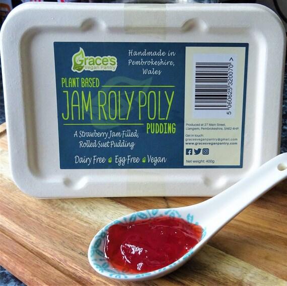 Vegan Jam Roly Poly