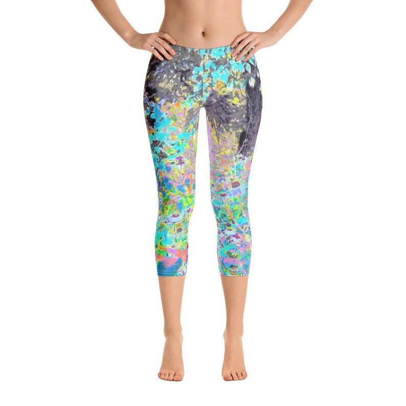 90466086e4b0b Capri Leggings for Women Womens Workout Leggings Moody | Etsy