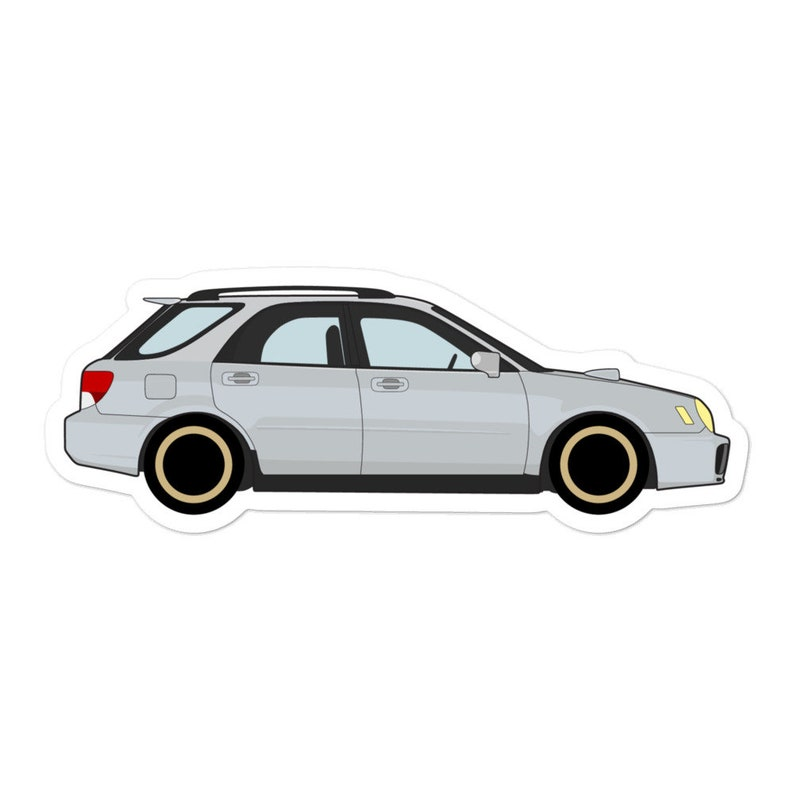 Subaru WRX Wagon Sticker Bugeye Hatch Grocery Getter Ej20 Sti Subie Turbo  EJ25 FA20 GD Crosstrek Forester XV Offroad jdm ej207 decal gift