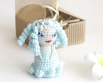 Guardian angel Tiny fairy doll Crochet pocket toy Thank you gift for guests Miniature dolls Godmother gift for goddaughter Wedding Fairytale